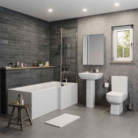 Modern Bathroom Designs Ireland by Bathroom Suite Coupled Toilet Basin L Shaped Rh Bath