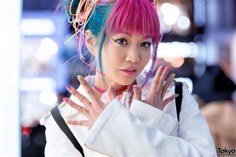 Harajuku Girl W Pink Blue Hair Galaxxxy Joyrich And Hair