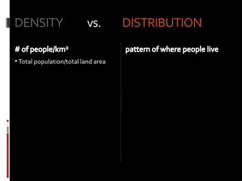 population density distribution