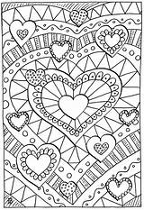 Coloring Hearts Healing sketch template