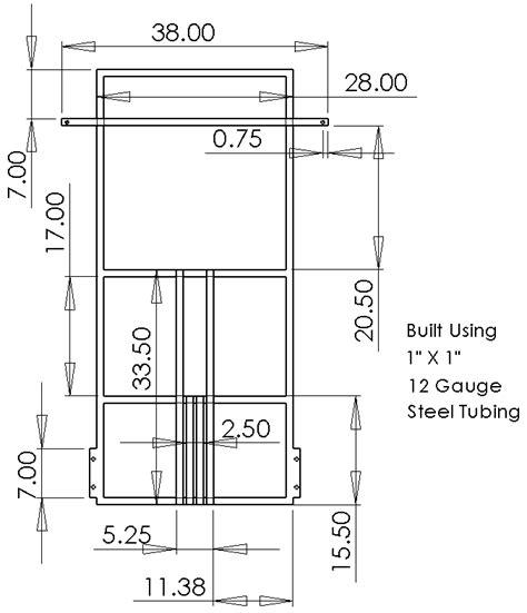 spectacular a frame blueprints my frame design diy go kart forum