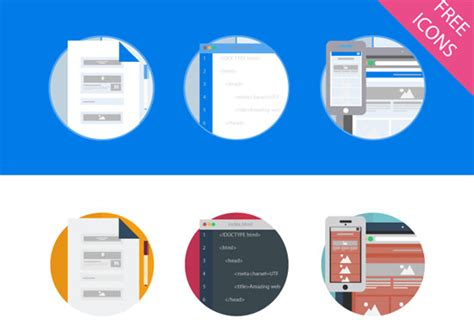 Abandon Skeuomorphism with these 30 Free Icon Sets in Flat