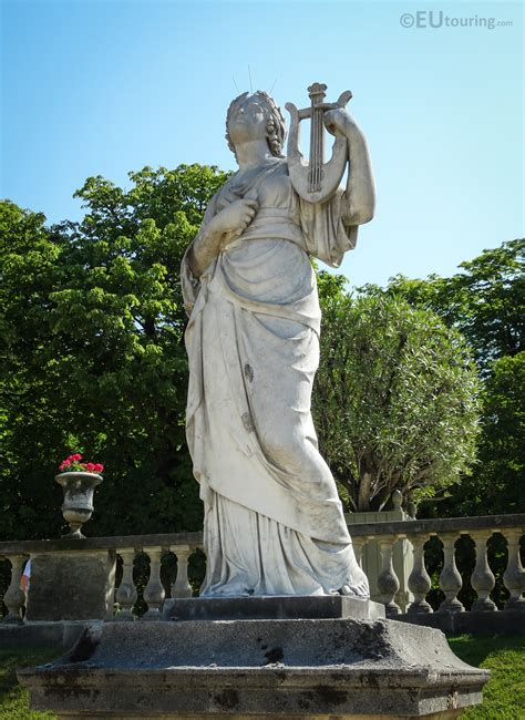 Photos of Goddess of music statue Calliope in Luxembourg ...