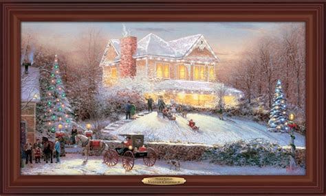 thomas kinkade victorian christmas ii wall decor christmas