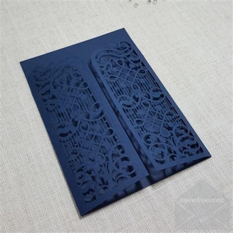 Z-cw5102 Blue Gate Wedding Invitation Cover Lasercut