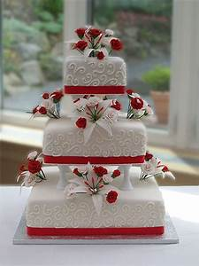 Red And White Wedding Cakes:Wedding