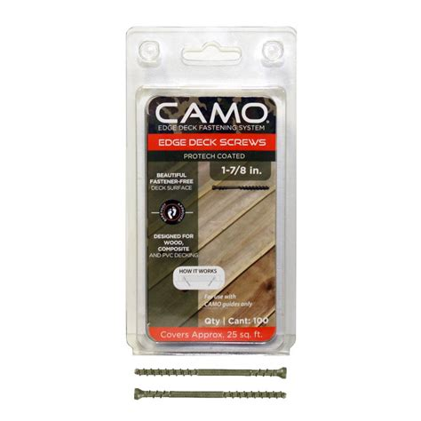 camo deck fasteners home depot camo 1 7 8 in protech coated trimhead deck 100
