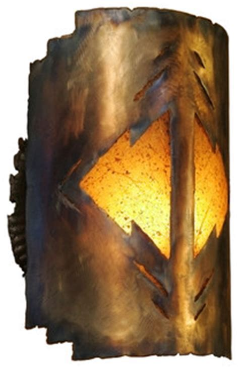 Rustic Wall Sconce, Far Reaches, Southwest Light