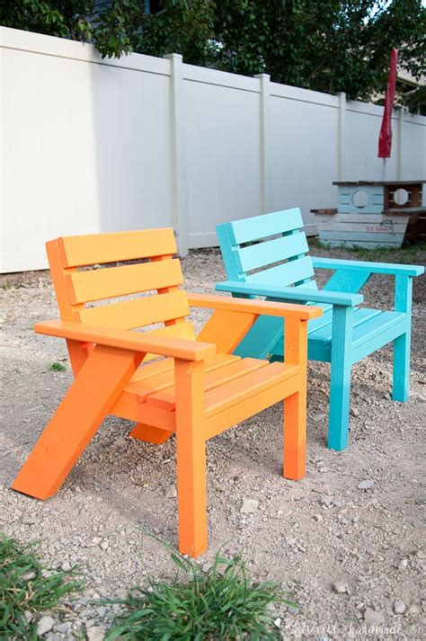 easy diy kids patio chairs houseful  handmade