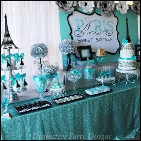 sweet sixteen paris style birthday birthday party ideas