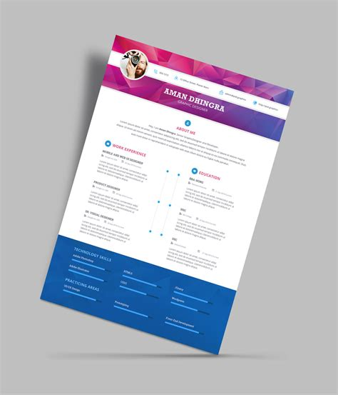 Great Resume Templates Psd by Free Professional Resume Cv Design Template For Designers Psd File Resume