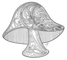 magic mushroom coloring pages cool trippy mushroom
