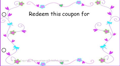 blank coupon template free printable coupons for unique gift ideas
