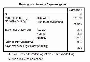 What Is Spss Quantitative Kolmogorov Smirnov Test Mit Spss