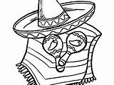 Sombrero Coloring Getcolorings Pages Printable sketch template