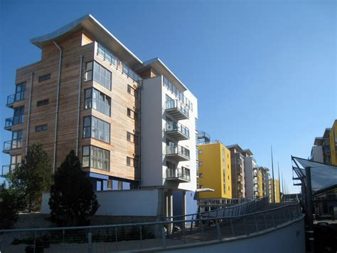 modern apartment blocks  sovereign  oast house