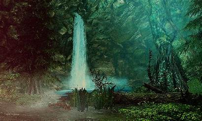 Gifs Skyrim Forest Nature Giphy Animated Aesthetics