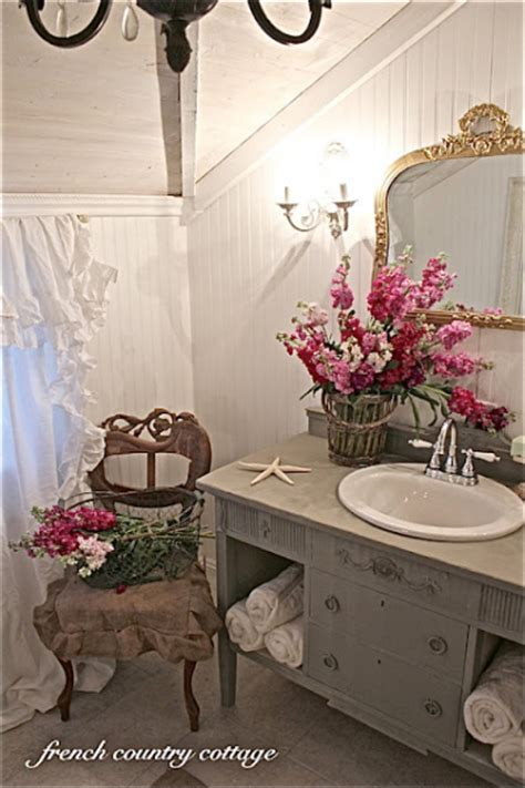 french country cottage bathroom makeover   budget