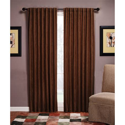 microsuede blackout curtain panel walmart
