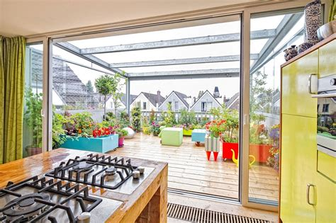 glass top dining room dynamic apartment wows with adaptable roof terrace