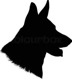 German Shepherd Pumpkin Stencil by German Shepherd Dog Head Black And White Illustration