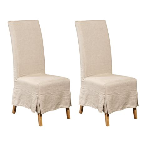 parsons chairs with slipcovers furniture classics 70018 oak linen slipcover parsons
