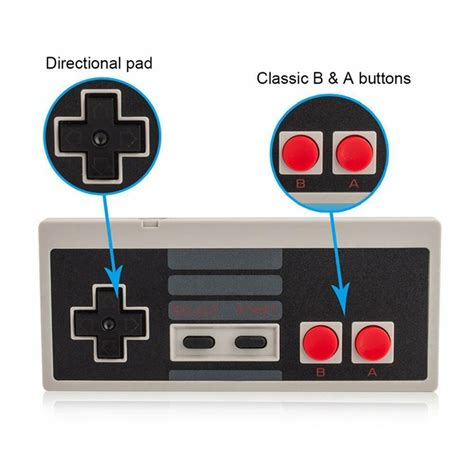 Wireless Game Controller Gamepad For Nintendo Nes Mini