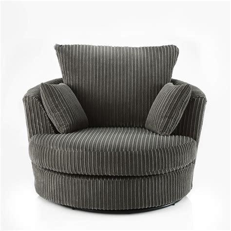 ambrose swivel sofa chair in charcoal grey fabric 28032