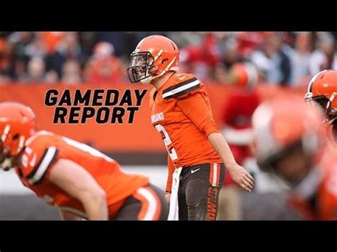 gameday report browns  seahawks youtube