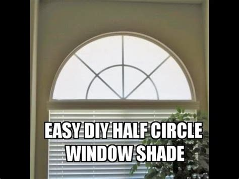 arched window treatments patterns diy half circle window shade cover tutorial