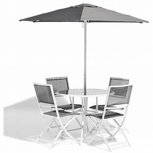 Table De Jardin 4 Personnes : ensemble repas de jardin 4 personnes m tal gris table chaise salon de jardin mobilier de ~ Teatrodelosmanantiales.com Idées de Décoration