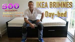 Ikea Tagesbett Brimnes : ikea brimnes extendable day bed frame with 2 drawers assembly youtube ~ Watch28wear.com Haus und Dekorationen