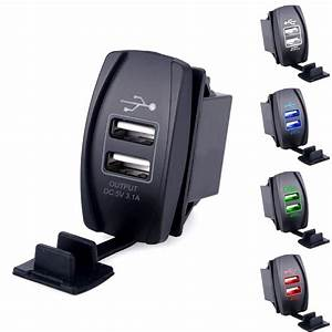 12v Input    5v Output    3 1a Car Usb Charger - Illuminated For 12 00  U20ac   Adapters