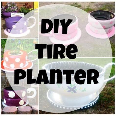 diy planter   recycled tires home  garden