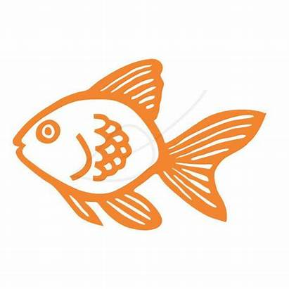 Goldfish Clip Orange Stamp