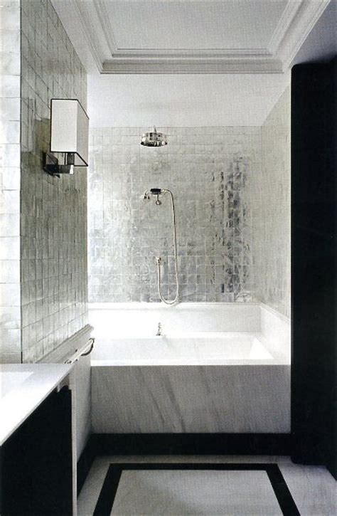Metallic Bathroom Tiles by 36 Shiny Grey Bathroom Tiles Ideas And Pictures
