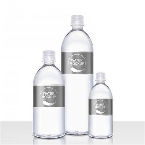 Layered psd with smart object insertion license: Packreate » Mineral Water Plastic Bottle PSD Mockup
