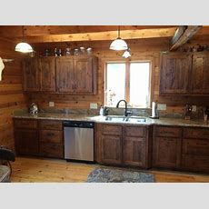 Reclaimed White Pine Kitchen Cabinets