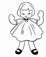 Coloring Simple Doll Objects Sheets Dall Rag Activity Drawing Drawings Clip Bluebonkers Pattern 820px 22kb sketch template
