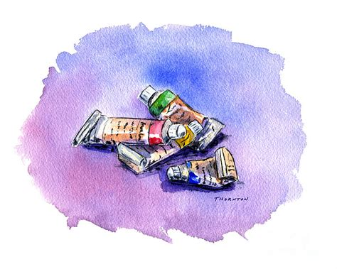 tubes of watercolor paints -types of artist paints