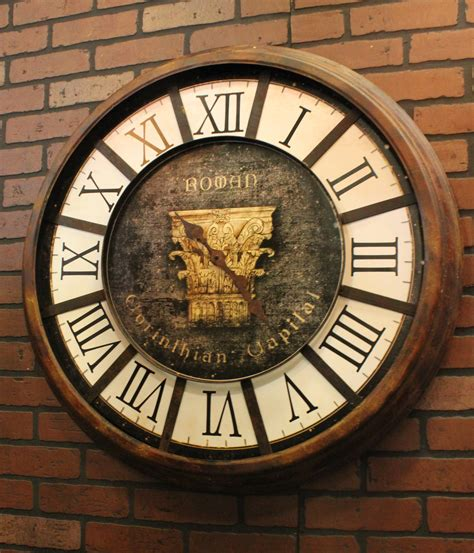 vintage wall edison vintage wall clock 24 quot town country event rentals