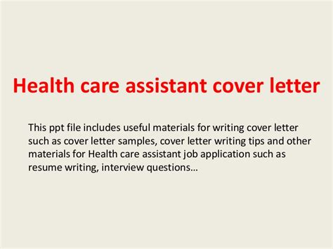 Cover Letter For Any Open Position by Health Care Assistant Cover Letter