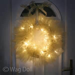 diy tulle and light wreath christmas lights shop blog