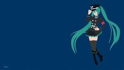 Miku Hatsune Commander Outfit Minimalist Deviantart Vector