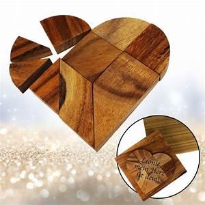 Liebesgeschenke Für Männer : holz puzzle herz tangram aus holz zum puzzlen von figuren ~ Eleganceandgraceweddings.com Haus und Dekorationen