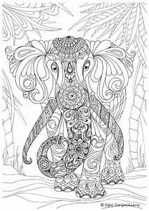 20 Free Printable Hard Elephant Coloring Pages For Adults
