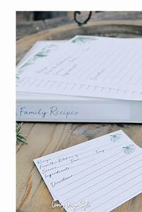 Hoarding Design Templates Recipe Template For Binder And Cards Country Design Style