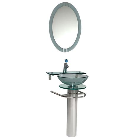 Home Depot Vessel Sink Stand by Fresca Ovale Vessel Sink In Clear Glass With Stand In