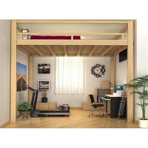 lit mezzanine 2 places avec canapé lit mezzanine escamotable électrique réglable en hauteur