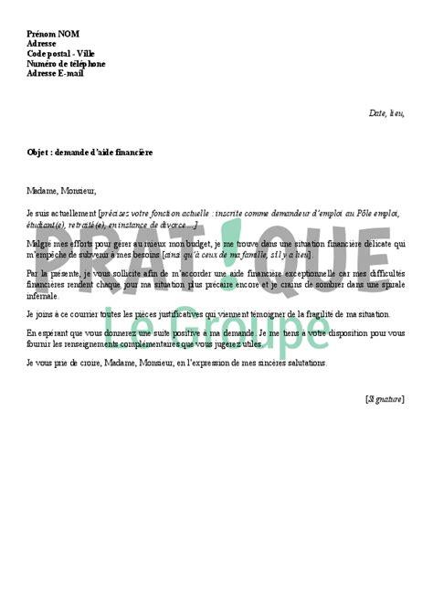 lettre de motivation cuisine collective modèle de lettre de demande d 39 aide financière pratique fr